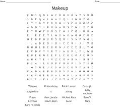 makeup brands word search wordmint