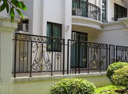 China High Quality Balcony Steel Grill Designs Wrought Iron Fence China Wrought Iron Fence Metal Fence