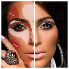 contour makeup like kim kardashian