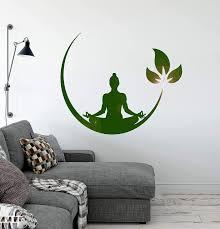 Amazon Com Vinyl Wall Decal Yoga Meditation Room Buddhist Zen Stickers Ig4132 Black Arts Crafts Sewing