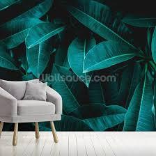 Green Jungle Leaves Wallpaper Wallsauce Us