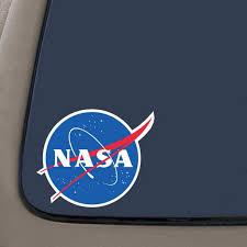 Nasa Decal Sticker 4 Inches Vinyl Decal Car Truck Van Suv Laptop Macbook Wall Decals Walmart Com Walmart Com