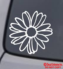 Daisy Flower Vinyl Decal Sticker Car Window Wall Bumper Cute Love Pretty Unique Ebay