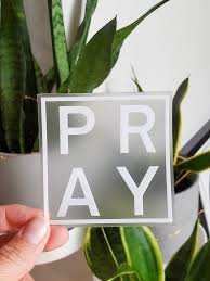 Pray Vinyl Transparent Sticker Christian Decal Clear Catholic Sticker Bible Jesus Faith Sticker Modern Sticker In 2020 Vinyl Transparent Stickers Christian Decals Faith Stickers