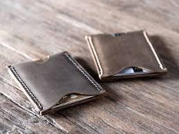 leather credit card wallet mens mount