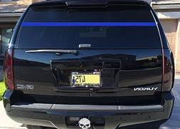 Police Officer Support Thin Blue Line Rear Window