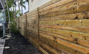 Horizontal Wood Fences Bulldog Fence Of Delray Beach Fl