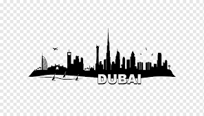 Dubai Skyline Wall Decal Sticker New York City Arab Ornament Text City Logo Png Pngwing