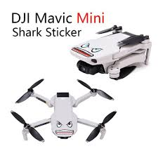 New Stickers Shark Face Decals Accessory For Dji Mavic Pro Spark Drone