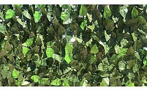 Edens Decor 120x40 Faux Ivy Leaf Privacy Trellis Fence Screen Natural Looking Artificial Hedge For Indoor Outdoor Decoration Forest Color Mint Green Leaves Outdoor Decor Decorative Fences