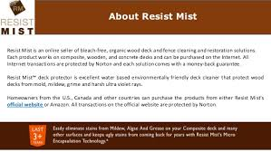 Wood Deck Cleaner Resist Mist