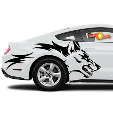 Mustang Ranger Coyote Wolf Grunge Design Tribal Door Bed Side Pickup Vehicle Truck Car Vinyl Graphic