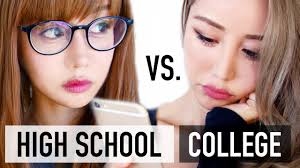 high vs college makeup routine