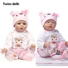 22 realistic sleeping newborn twins