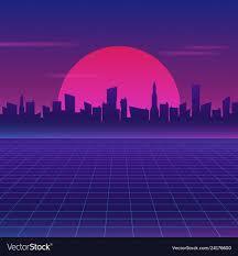 retro future 80s style sci fi wallpaper
