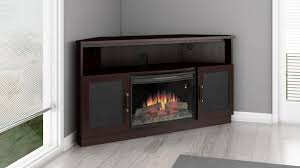 60 corner electric fireplace tv stand