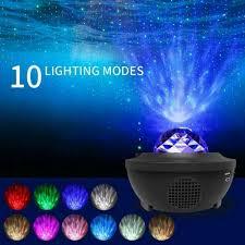 Led Music Star Projector Lamp Night Light For Kids Bedroom Living Room Decor Ebay