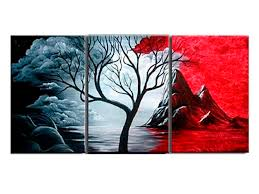 3 pieces set modern abstract painting