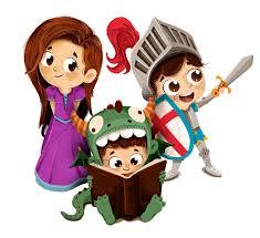 Sant Jordi, princesa caballero y dragón infantil - Dibustock ...
