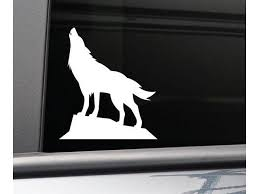 Wolf Vinyl Decal Laptop Car Truck Bumper Window Sticker White Newegg Com