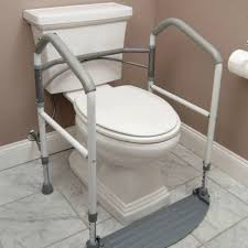 handicap portable toilet rail folding