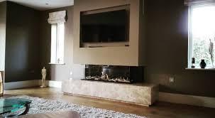 lineafire gas fireplace 3 sided 150
