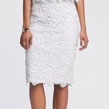 Banana Republic Skirts | White Lace Skirt | Poshmark