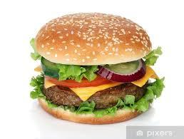 Tasty Hamburger Isolated On White Background Sticker Pixers We Live To Change