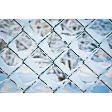 Canvas Print Wire Mesh Fence Snow Wire Mesh Winter Fence Stretched Canvas 10 X 14 Walmart Com Walmart Com
