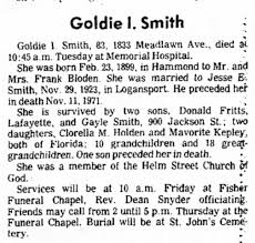 Goldie Smith Obit - Newspapers.com