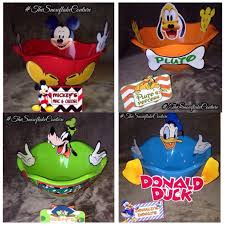 Set Of 4 Mickey Mouse Clubhouse Party Character Snack Bowls