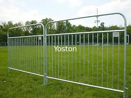 Pedestrian Barricade Temporary Fencing Barrier Galvanized Steel Welded Wire Fence