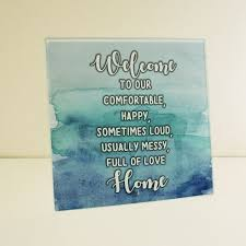 home quotes glass plaque customize nation