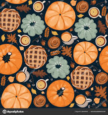 cute seamless autumn pattern background