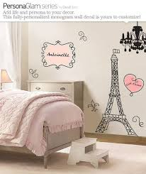 Wall Decal Large Vinyl Art Sticker Paris France Eiffel Tower Name Personalization Monogram F Paris Themed Room Paris Themed Bedroom Paris Room Decor