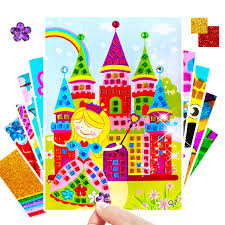 5pc Crafts Kids Children S Toys Diamond Sticker Puzzle Kindergarten Material Diy Crafts Kids Toys For Girls Toys For Children 04 Kid Gift Mall