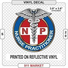 Np Reflective Decal Nurse Practitioner Nursing Car Sticker Caduceus Gift S 20 Ebay