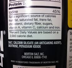 morton iodized salt what s in it