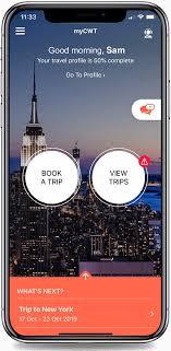 mycwt travel management app cwt