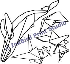 4 Pack Of Origami Vinyl Decal Stickers Whale Fox Boat Etsy