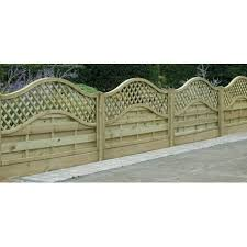 Omega Lattice Top Fence Panel 1800mm X 900mm Worcester Timber Products