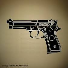 Beretta Circle Logo 5x Vinyl Decal Sticker Firearm Guns Pistol Rifle M9 Ammo