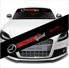 Car Front Reflective Windshield Decal Window Sticker Banner For Mazda Racing Ebay