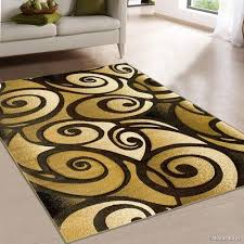 rugs evolution swirl brown area rug