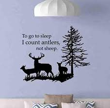 Amazon Com To Go To Sleep I Count Antlers Not Sheep Wall Decal 28x22 Poster Boys Room Sign Gift Kids Bedroom Vinyl Sticker Playroom Wall Art Quote Nursery Hunting Decor Mural Print 1020