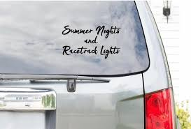 Summer Nights And Racetrack Lights Vinyl Decal Car Decals Etsy