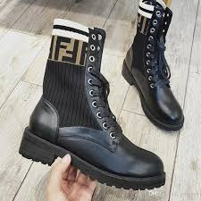 luxury ankle boots black leather biker