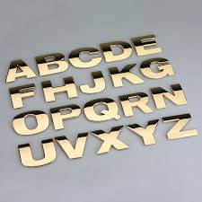 1pc 40mm Gold Silver Letters Numbers Metal Styling Car Emblem Badge 3d Car Stickers Refitting Decal Customize Home Decorations Car Emblem 3d Car Stickerstyling Car Aliexpress