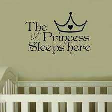 The Princess Sleeps Here Diy Wall Stickers Fashion Art Wall Decals F Funstyling Com