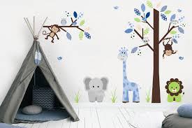 Baby Boy Nursery Decals Animal Wall Art Baby Room Furniture Nurserydecals4you